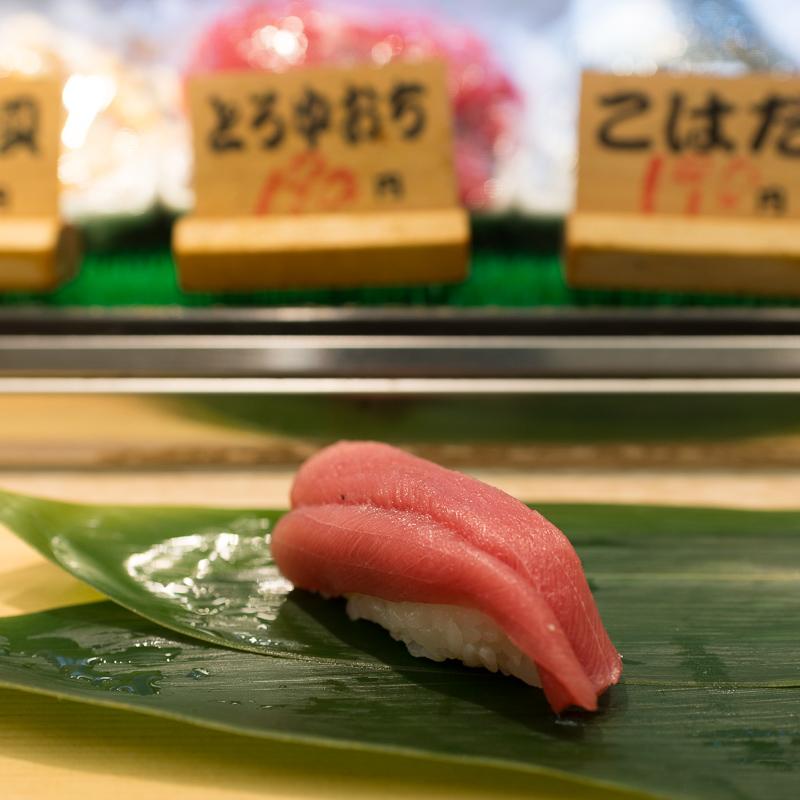お寿司の立ち食いカウンター 仙台駅3階の北辰鮨