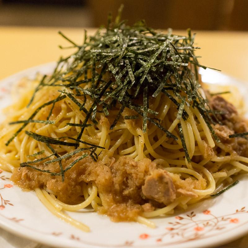 珈琲店ぴーぷるのスパゲッティ