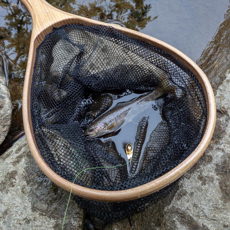 閉伊川で初めての渓流釣り