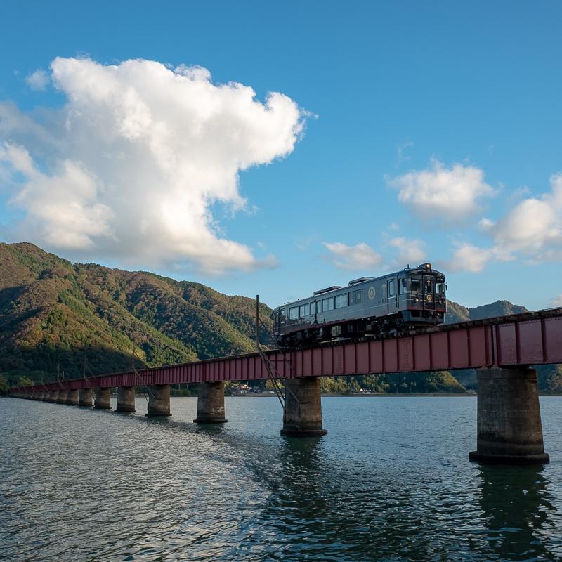やっぱり絵になる由良川橋梁