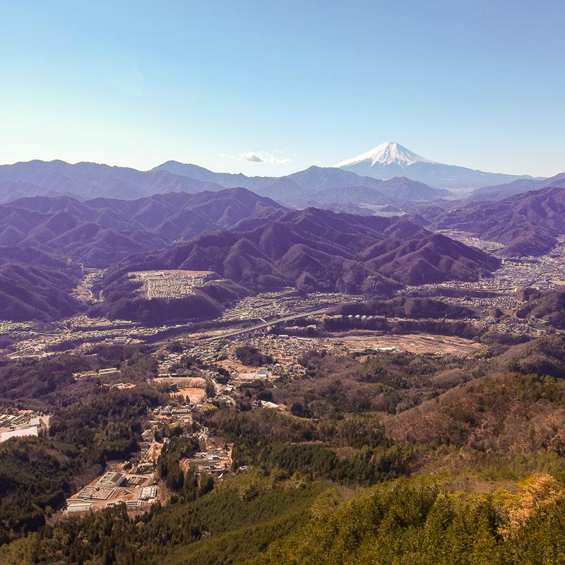 富士山を見に百蔵山